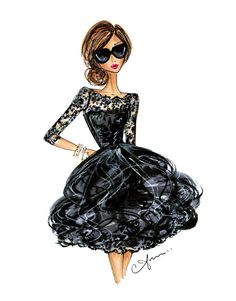 Fashion Illustration Print Oscar de la Renta by anumt on Etsy