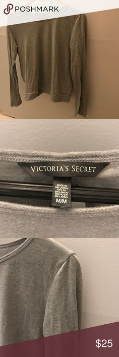 Victoria's Secret Long Sleeved Open Back Top Never worn. NWOT. Great for either working out or pairing with a bandeau. Victoria's Secret Tops Tees - Long Sleeve