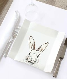 DIY Bunny graphic plate