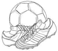 free football and boots digital stamp set