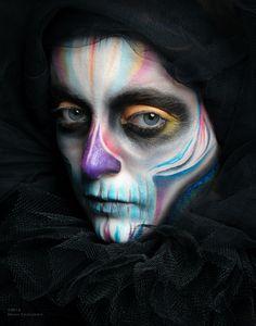 Day of the dead skull 2 by Looshk.deviantart.com on @DeviantArt