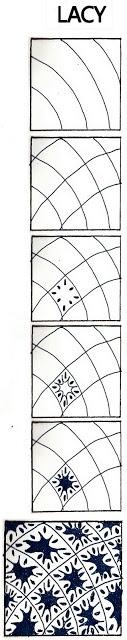 Life Imitates Doodles: Lacy: Non-official Zentangle/ZIA pattern http://lifeimitatesdoodles.blogspot.co.uk/2010/01/lacy-non-official-zentangle-zendoodle.html