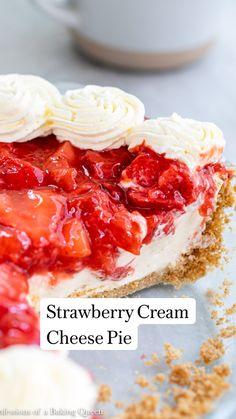 Strawberry Cream Cheese Pie, Strawberry Dessert Recipes, Strawberries And Cream, Strawberry Yum Yum Recipe, Recipes With Fresh Strawberries, Stawberry Pie, Fresh Fruit Desserts, Easy Strawberry Desserts, Fresh Strawberry Cake