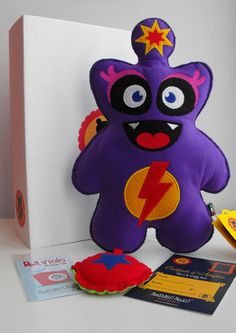 #etsy #monster #felt #project #handcrafted #soft #toys