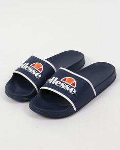 Ellesse Fillipo Sliders Navy/White,sandals,pool,flip flops