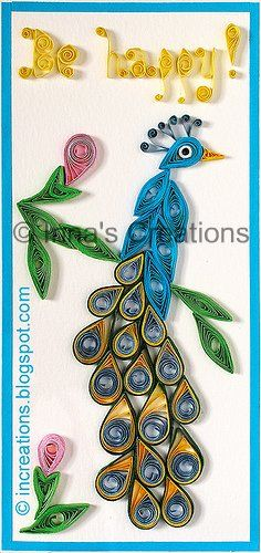 Quilled peacock card!