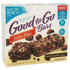 South Beach Diet - Good to Go Cereal Bars Extra Fiber Dark Chocolate - 5 Bars