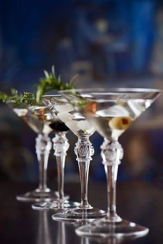 Martinis | it isn't wine but I like this picture of martinis lined up