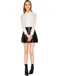 White Silk Blouse - Chiffon Blouses - Cute Tops - $42