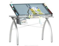 Glass Futura Craft Station in Silver/Blue for $127.77 on amazon
