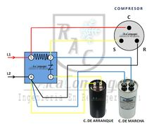 Electrical Circuit Diagram, Electrical Plan, Electrical Projects, Electrical Installation, Air Compressor Repair, Rotary Compressor, Refrigeration And Air Conditioning, Air Conditioning Services, Air Conditioner Capacitor