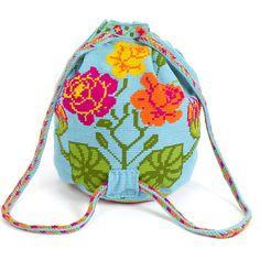 Worki mochilla i wayuu Wiggly Crochet, Mochila Crochet, Crochet Handbags, Crochet Bags, Tapestry Crochet Patterns, Crochet Shell Stitch, Backpack Pattern, Tapestry Bag, Beaded Purses