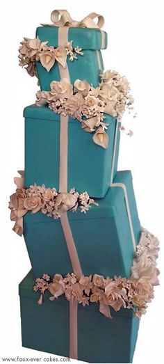 The Classic- Tiffany Inspired by Faux-Ever Cakes, via Flickr