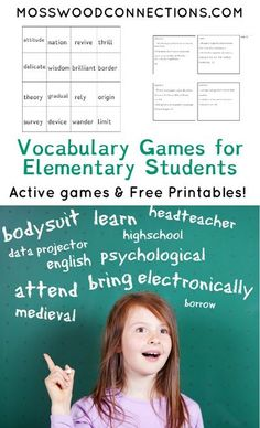 Vocabulary Games for Elementary Students - Mosswood Connections