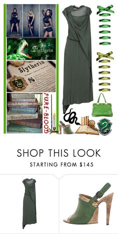 """""""Andromeda, Narcissa & Bellatrix - Slytherin Girls"""" by fashionqueen76 ❤ liked on Polyvore featuring Bottega Veneta, books, pottermore and bookchara"""