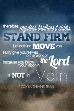 1 Corinthians 15:58 - iPhone/iPod background