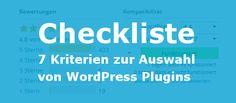 7 Kriterien zur Auswahl von WordPress Plugins - Pressengers
