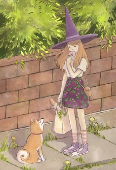 Heikala sells cute products of her illustrations Illustration Inspiration, Illustration Art, Character Art, Character Design, Witch Drawing, Under Your Spell, Witch Art, Witch Aesthetic, Illustrations