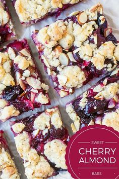 Sweet Cherry Almond Bars are a delicious way to celebrate the start of fresh cherry season! | theviewfromgreati...