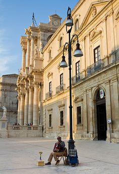 I loved this town!! Piazza Duomo - Ortygia, Sicily, Italy