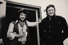 Waylon Jennings & Johnny Cash ( 1.974 ).  Jim Marshall Photography LLC.