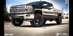 "2014 Chevrolet Silverado » BRAND: FUEL ONE PIECEOFFSET: WHEEL: D531 - Hostage TIRE SIZE: 35""WHEEL SIZE: 20""SUSPENSION: 5.5"" Lift"