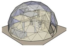 Geodesic Dome Covers - Geodesic Dome design, dome covers, sales, hire & delivery anywhere in Europe at Geodesic Buildings Geodesic Dome Homes, Geodesic Sphere, Yurt Home, Dome Structure, Dome Greenhouse, Dome House, Round House, House Layouts, Architecture Design