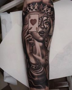 25 Best Queen Of Hearts Tattoo Images Meaning Tattoos Meaningful