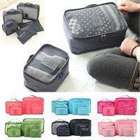 6 Pcs/Set Clothes Storage Bags Packing Cube Travel Luggage Organizer