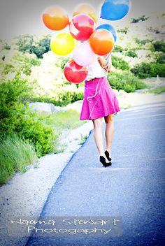 Senior Pictures - Balloon fun!