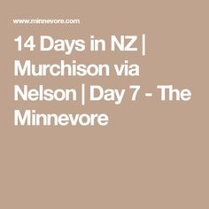 14 Days in NZ | Murchison via Nelson | Day 7 - The Minnevore
