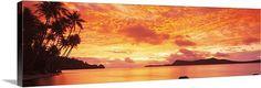 Tahiti, Huahine Island sunset canvas print available at GreatBIGCanvas.com.