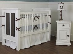 he Panel Crib is the sophisticated choice for the luxury home nusery. The Panel Crib is named for the two hand-crafted panels on each end of the headboards.  Your Panel Crib will shine with an accent color! Choose from over 30 different colors and stains to customize your piece to your unique personality. Panel Crib was purchased by Halle Berry for her daughter.