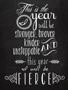 This year I will be fierce. Download and print this inspiring free printable quote to add to your home decor! #LGLimitlessDesign #Contest