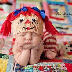 crochet raggedy ann hat | am looking for a pattern for a newborn of raggedy ann hat.