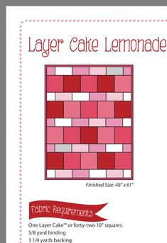 Quilting For Beginners, Quilting Tutorials, Quilting Projects, Baby Quilts Easy, Cute Quilts, Layer Cake Quilts, Layer Cakes, Strip Quilts, Patch Quilt