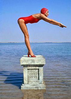 Norman parkinson-the redlist Jerry Hall Vogue Russia1975