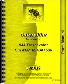 caterpillar 931 traxcavator parts manual products caterpillar 944 traxcavator parts manual