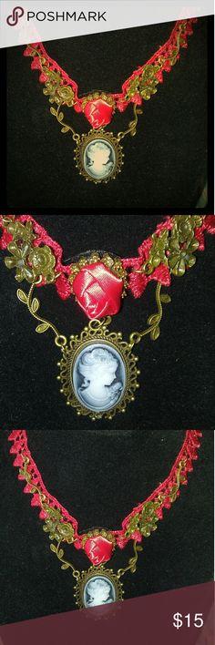 Vintage Cameo Choker Camero choker Jewelry Necklaces