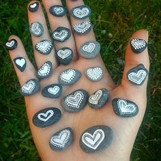 Heart pebbles • • • • #mandala #stone #zentangle #mandalaart #heartshaped #mandalas #stones #gems #mandalatattoo #naturalstone #zendoodle #jewels #zenart #heart #powerstone #paintedrocks #paintedstone #mandalastones #天然石 #zentangleart #mandalala #crystal #zendala #beautiful_mandalas #heymandalas #石 #мандала