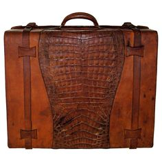 croc & leather briefcase ... limilee