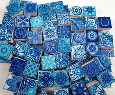 Ceramic Mosaic Tiles - Medallions Moroccan Tile Mosaic Pieces Shades Of Blue Light Purple - 90 Piece Ceramic Mosaic Tile, Mosaic Art, Ceramic Art, Glass Supplies, Mosaic Pieces, Mosaic Madness, Tiles Texture, Moroccan Tiles, Art Projects