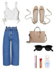 """""""University Outfit"""" by lilyhastings98 on Polyvore featuring moda, Valentino, Hollister Co., Lodis, Marc Jacobs ve Too Faced Cosmetics"""