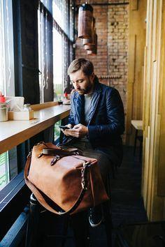 c9573309af2d Leather Duffle Bag by Kruk Garage Travel bag Weekender bag Holiday bag  Flight cabin Gym bag Overnight bag Personalized gift Christmas gift