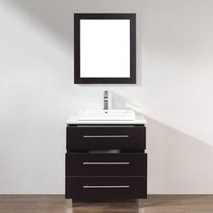 Shop Spa Bathe Grada Chai Drop-in 1-Sink Bathroom Vanity with Quartz Top and Mirror (Common: 28-in x 22-in; Actual: 28-in x 22-in) at Lowes.com