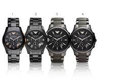 Emporio Armani Ceramic Men's Watch Black Collection – 4 Styles!