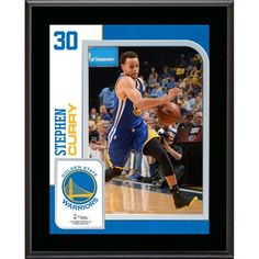 """Stephen Curry Golden State Warriors Fanatics Authentic 10.5"""" x 13"""" Sublimated Player Plaque - $29.99"""