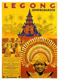 Vintage Legong dance movie poster
