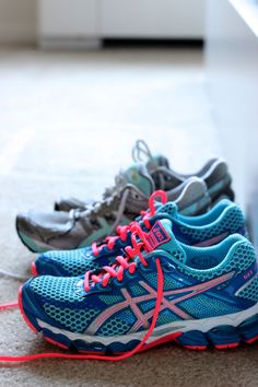 Asics Running Shoes - I have those blue ones! (and a different purple pair that I rotate) :)