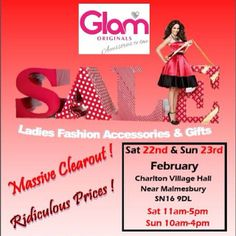 Don't forget our Mega Sale in 2 weeks time! #sale #malmesbury #cirencester #glamoriginals